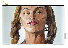 Portrait In Watercolor Of A Brooklyn Queen Carry-all Pouch
