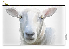 Carry-all Pouch featuring the painting Watercolor Sheep by Ivana Westin