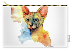 Watercolor Sphynx 2 Carry-all Pouch