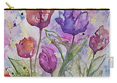 Watercolor - Spring Flowers Carry-all Pouch