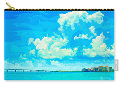 Watercolor Spring On Sarasota Bay Carry-all Pouch by Susan Molnar