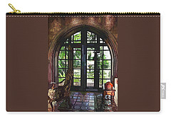 Watercolor View To The Past Carry-all Pouch by Susan Molnar