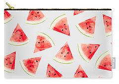 Watercolor Watermelon Pattern Carry-all Pouch by Uma Gokhale