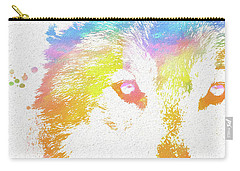 Watercolor Wolf Carry-all Pouch