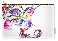 Watercolour Hummingbird Carry-all Pouch