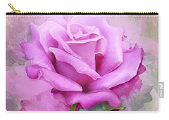 Watercolour Pastel Lilac Rose Carry-all Pouch