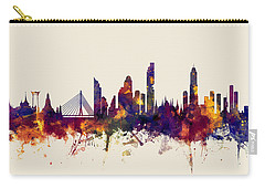watercolour, watercolor, urban,  Bangkok, Bangkok skyline, bangkok cityscape, city skyline, thailand Carry-all Pouch