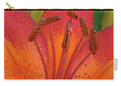 Carry-all Pouch featuring the photograph Watered Lily by Jean Noren
