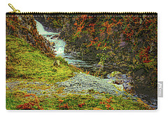 Carry-all Pouch featuring the photograph Waterfall 1 #g9 by Leif Sohlman