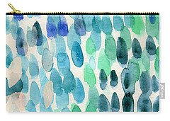 Waterfall 2- Abstract Art By Linda Woods Carry-all Pouch by Linda Woods
