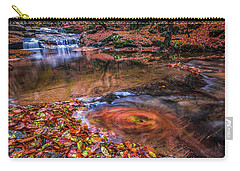Carry-all Pouch featuring the photograph Waterfall-4 by Okan YILMAZ
