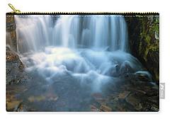 Waterfall Along Sunbeam Creek In Mt Rainier National Park Carry-all Pouch