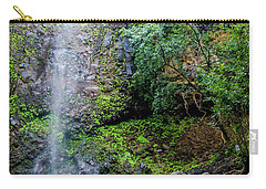 Waterfall And Flowers Carry-all Pouch
