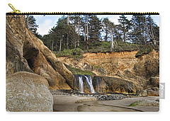 Waterfall At Hug Point State Park Oregon Carry-all Pouch