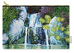 Waterfall At Japanese Garden Carry-all Pouch