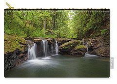 Waterfall At Rock Creek Oregon Carry-all Pouch