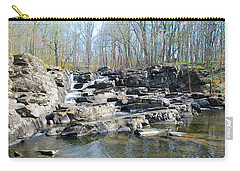 Carry-all Pouch featuring the photograph Waterfall At Wickecheoke Creek by Bill Cannon