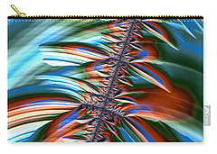 Carry-all Pouch featuring the digital art Waterfall Fractal 2 by Bonnie Bruno
