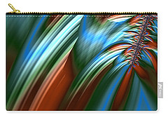 Carry-all Pouch featuring the digital art Waterfall Fractal by Bonnie Bruno