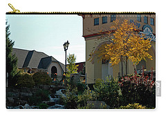 Carry-all Pouch featuring the photograph Waterfall Frankenmuth Mich by LeeAnn McLaneGoetz McLaneGoetzStudioLLCcom