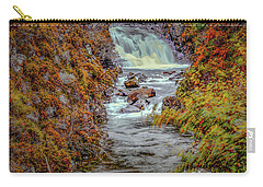 Carry-all Pouch featuring the photograph Waterfall #g8 by Leif Sohlman
