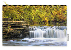 Carry-all Pouch featuring the photograph Waterfall Glen, Lemont, Il by Adam Romanowicz