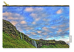 Carry-all Pouch featuring the photograph Waterfall Hill by Scott Mahon