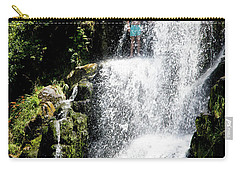 Waterfall In New Zealand Carry-all Pouch