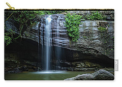 Carry-all Pouch featuring the photograph Waterfall In Paradise by Keiran Lusk