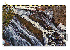 Waterfall In Yellowstone Carry-all Pouch
