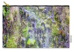Carry-all Pouch featuring the photograph Waterfall - Okarito Beach - New Zealand by Steven Ralser