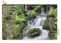 Carry-all Pouch featuring the photograph Waterfalls And Rapids On The White Opava Stream by Michal Boubin