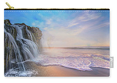 Waterfalls Into The Ocean Carry-all Pouch