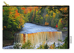 Waterfalls Of Michigan Carry-all Pouch by Michael Rucker