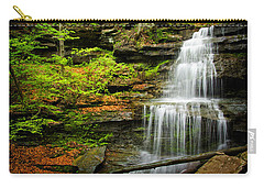 Waterfalls On Little Three Mile Run Carry-all Pouch