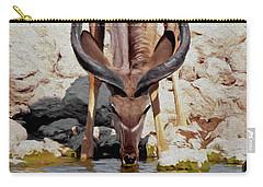 Waterhole Kudu Carry-all Pouch by Ernie Echols