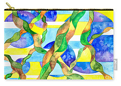 Watering The Lawn Abstract Carry-all Pouch