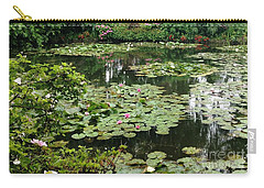 Carry-all Pouch featuring the photograph Waterlilies At Monet's Gardens Giverny by Therese Alcorn
