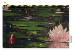 Carry-all Pouch featuring the painting Waterlilies - Original Sold by Therese Alcorn
