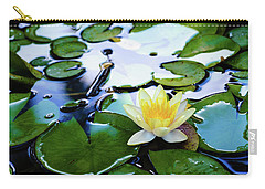 Waterlilly On Blue Pond Carry-all Pouch