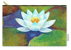 Carry-all Pouch featuring the painting Waterlily by Elizabeth Lock