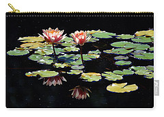 Carry-all Pouch featuring the painting Waterlily Panorama by Marilyn Smith