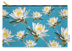 Carry-all Pouch featuring the mixed media Waterlily Pattern by Christina Rollo