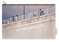 Carry-all Pouch featuring the photograph Waterloo Bridge by Rasma Bertz