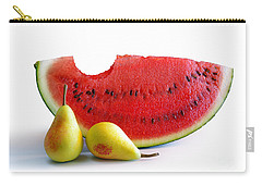 Watermelon And Pears Carry-all Pouch by Carlos Caetano
