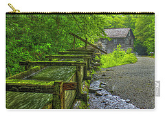 Carry-all Pouch featuring the photograph Waterworks Mingus Mill Mingus Creek Art  Great Smoky Mountains Art by Reid Callaway
