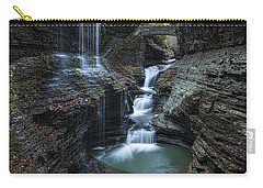 Watkins Glen Rainbow Falls Carry-all Pouch by Stephen Stookey