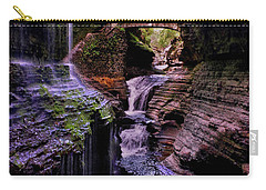 Watkins Glen State Park - Rainbow Falls 002 Carry-all Pouch by George Bostian
