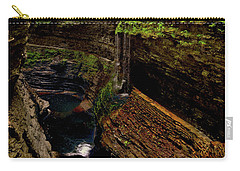 Watkins Glen State Park - Rainbow Falls 003 Carry-all Pouch by George Bostian