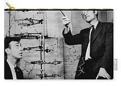 Watson And Crick Carry-all Pouch by A Barrington Brown and Photo Researchers